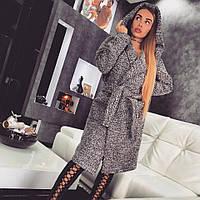 Зимнее шерстяное пальто с капюшоном, женские зимние пальто оптом