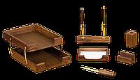 Деловой подарочный настольный набор Bestar ( 6 предметов) орех 2017