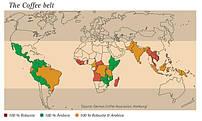 Страны производители кофе.