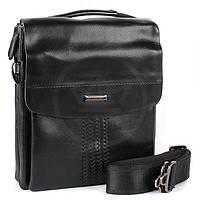 Мужская сумка Bradford 918-3 средняя на три молнии искусственная кожа размер 21х26х7см