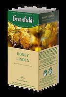 Greenfield Honey Linden черный чай с липой и медом в пакетиках, 25 шт