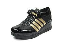 Детская спортивная обувь кроссовки:105-113 Черный-Золотой, р. 31-35