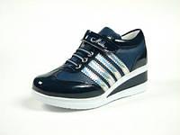 Детская спортивная обувь кроссовки:105-109 т.Синий-Сер Полоски, р. 31-35