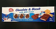 Батончики Mister CHOC Chocolate & Biscuit со вкусом Молока 300г
