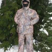 Непромокаемый зимний костюм  для охоты и рыбалки (куртка с капюшоном и брюки)
