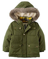 Зимняя дутая куртка-парка с флисом Carters на мальчика 2-5 лет Faux Fur Lined Parka