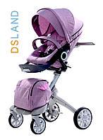 Универсальная коляска 2в1 DSLAND Xplory V6 (stokke)  light purple люлька+прогулочный блок (ПОДАРКИ)