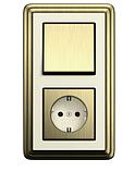 Рамка 1-пост. GIRA ClassiX бронза/кремовый, фото 2
