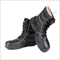 Берцы зимние, обувь для военных, ботинки, на меху, натуральная кожа, TAIGA черные