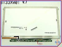 "Экран, дисплей 13.3"" AUO B133XW03 V.2 (1366*768, 40Pin справа, LED Slim (Ушки по бокам), Глянцевая)."