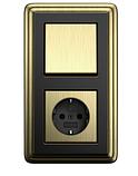 Рамка 2-пост. GIRA ClassiX бронза/чёрный, фото 2