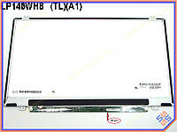 "Экран, дисплей 14.0"" AUO B140XW02 V.1 LED SLIM (Глянцевая. Ушки сверху-снизу. 40Pin справа на доп панеле. Разрешение WXGA (1366*768)"