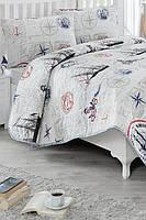 Покрывало стеганное с наволочками Eponj Home Fairway красное 200*220