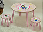 Столик с двумя стульчикамиW02-886 H915 Белоснежка