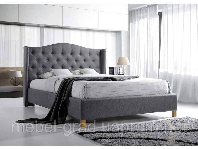 Кровать двухспальная Aspen / Аспен Signal серый 140х200
