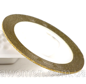 Лента для дизайна тонкая 1 мм (золото бархтное напыление)