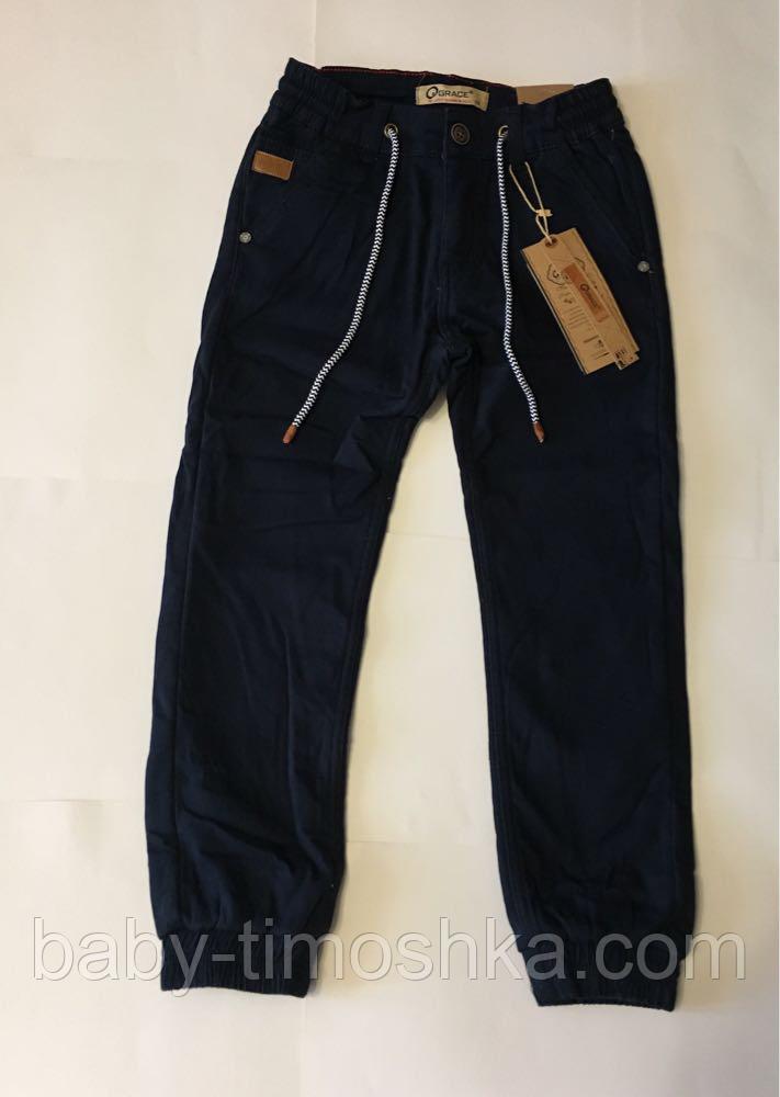 Катоновые штаны (т.синие) на флисе для мальчиков 110 см