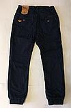 Катоновые штаны (т.синие) на флисе для мальчиков 110 см, фото 2