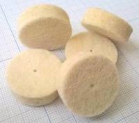Фетровый круг для полировки или шлифовки. Диаметр 25 мм