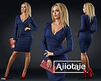 Красивое женское платье с декольте (3 цвета)