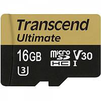 Карта памяти TRANSCEND microSDHC 16GB