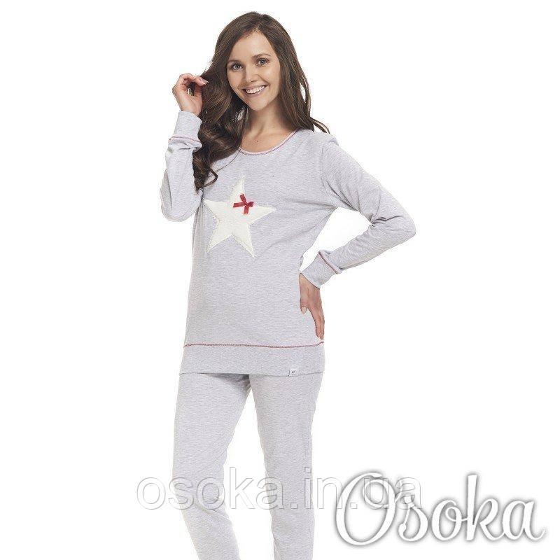 ce8bf25d167e Женская молодежная пижама со звездой Хлопок Dobranocka (Добраночка) 9313 -  Интернет-магазин