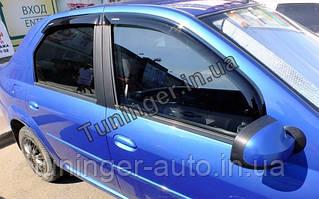 Ветровики, дефлекторы окон Renault Logan sedan 2004-2012 (ANV)