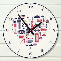 Часы настенные для кабинета английского языка