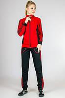 Спортивный костюм женский трикотажный красный с лампасами на манжете (резинке) внизу Турция 46