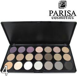 Parisa - Набор теней книжка E-21 24Color Eyeshadows Тон 04 матовые