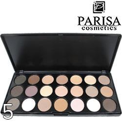 Parisa - Набор теней книжка E-21 24Color Eyeshadows Тон 05 матовые