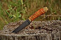 """Авторский нож ручной работы для охоты """"Бестия"""", дамасск (наличие уточняйте)"""