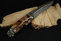 """Авторский нож ручной работы """"Охотничий пёс Мастиф"""", дамасск (наличие уточняйте)"""
