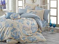 Постельное белье HOBBY Poplin Vanessa голубой Евро
