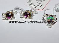 Серьги и кольцо для девочки Китти, фото 1