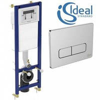Інсталяція для підвісного унітазу +кнопка хром Ideal Standard