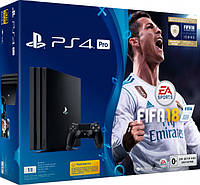 Sony PlayStation 4 Pro 1TB Black (CUH-7008B) Bundle + игра FIFA 18 (PS4) (327916)