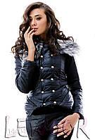 Практичная стёганая зимняя куртка с брюками