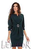 Креповое платье с рукавом ¾ на манжете