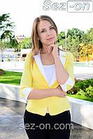 Пиджак женский на одной пуговице - Желтый