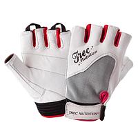 Женские кожаные перчатки для тренировок и фитнеса Fitness White (разм: XS, S, M, L)