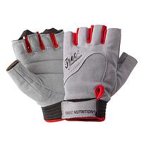 Женские кожаные перчатки для тренировок и фитнеса Fitness Gray (разм: XS, S, M, L)
