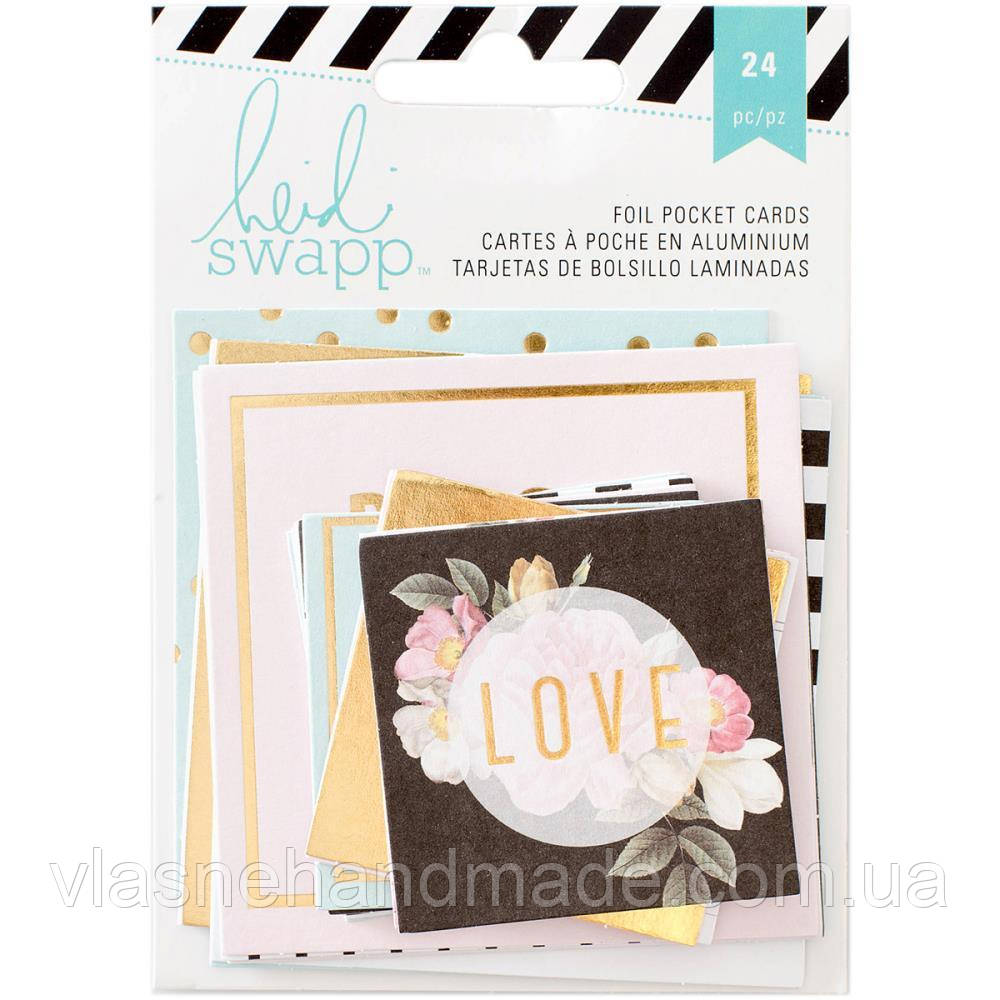 Карточки - Heidi Swapp - W/Gold Foil - 24Pkg