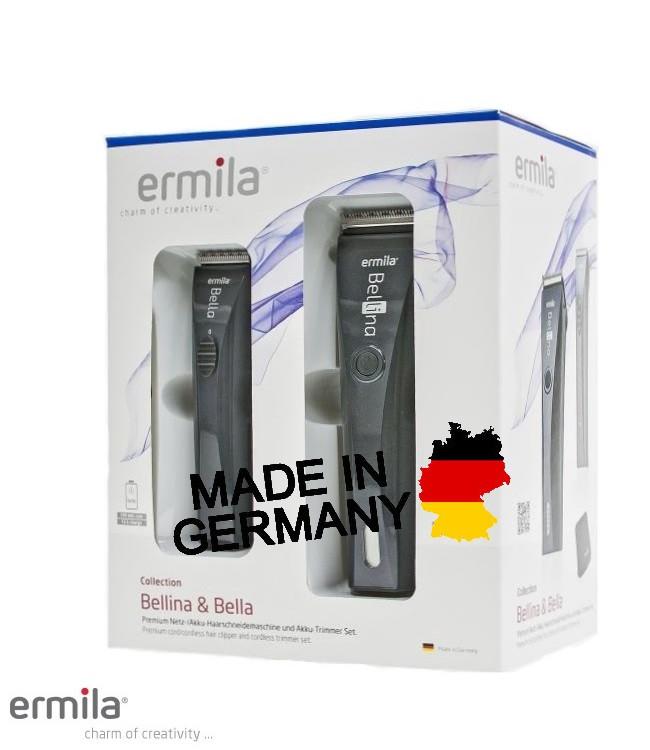 Набор машинок для стрижки Ermila 1870-0027 Bellina & Bella Combo Anthracite