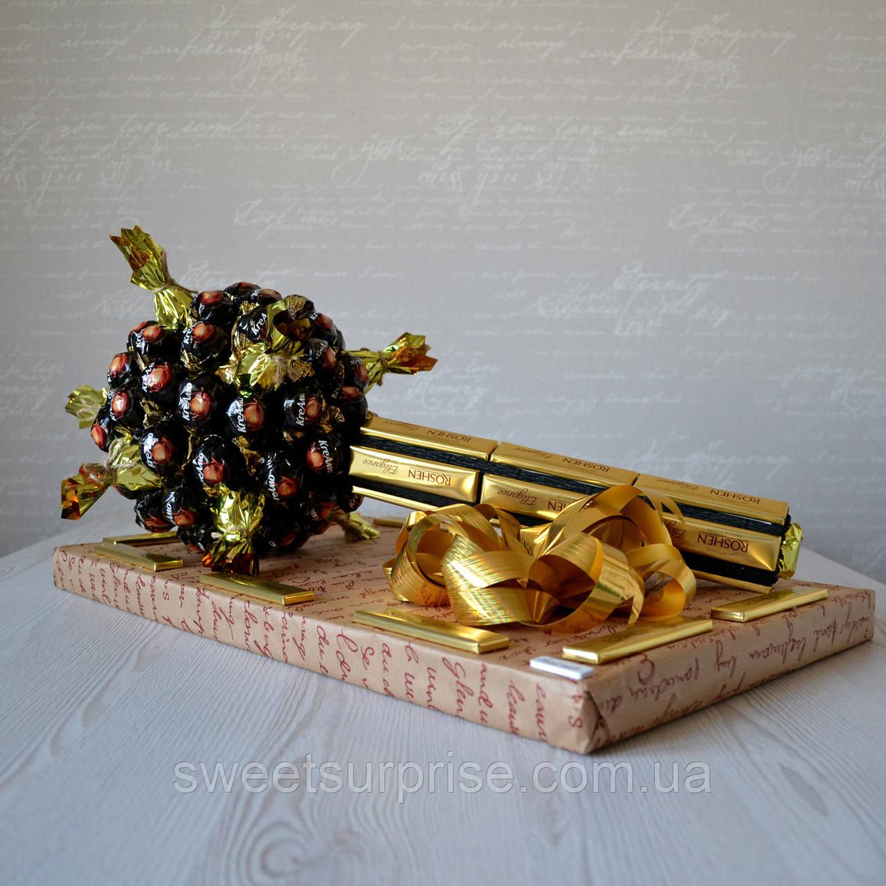 """Вкусный подарок для мужчины """"Булава из конфет"""""""