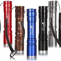 Фонарь светодиодный Ultrafire Zoom Cree XM-L T6, 5 режимов, фокусировка, 1х18650. Серебристый.