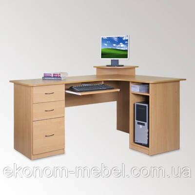 Угловой компьютерный стол СУ-3 большой и вместительный