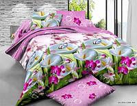 Двуспальный набор постельного белья 180*220 из Полиэстера №164 Черешенка™