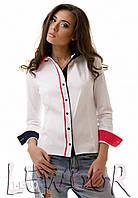 Рубашка с яркой разноцветной отделкой