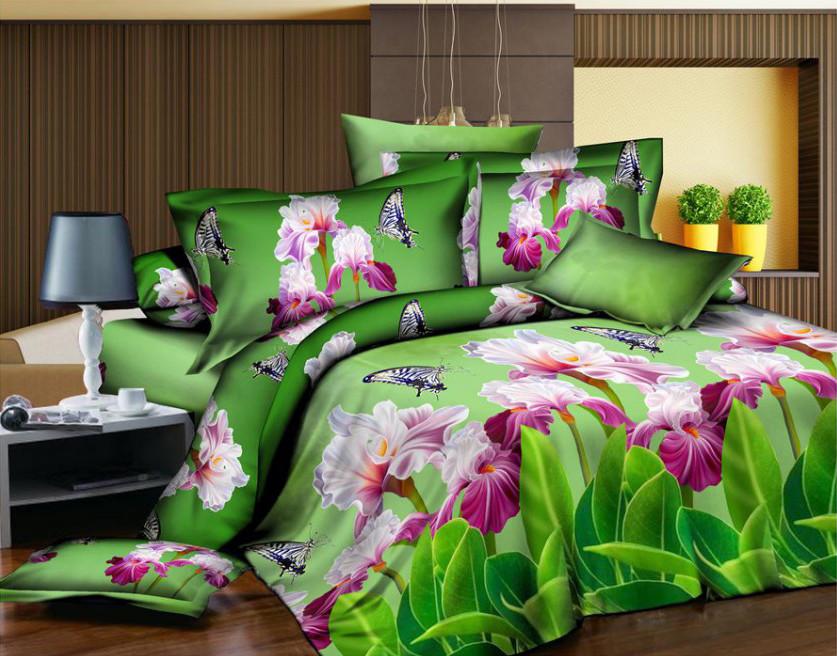 Двуспальный набор постельного белья 180*220 из Полиэстера №167 Черешенка™